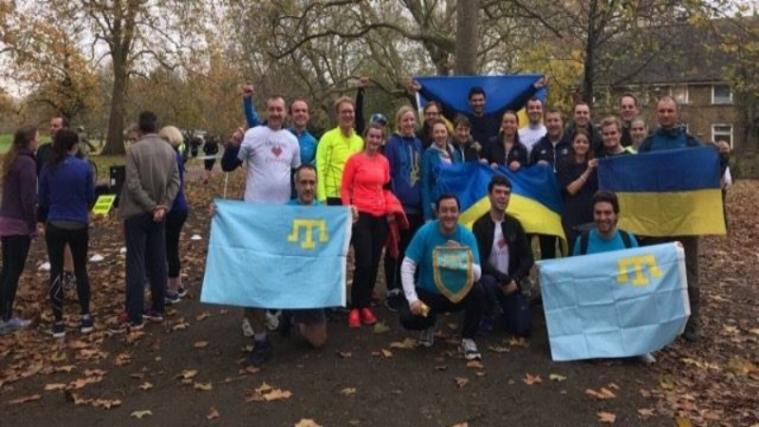 У Лондоні — марафон під українськими і кримськотатарськими прапорами