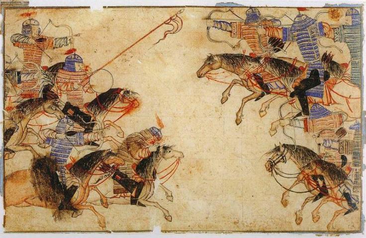 Монгольская конница. Средневековый рисунок