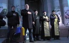 На Майдані Незалежності вшанували пам'ять загиблих донеччан та луганців-захисників України