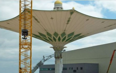 Паломники в Масджид аль-Харамі зможуть молитися під гігантськими парасолямиПаломники в Масджид аль‑Хараме смогут молиться под гигантскими зонтами