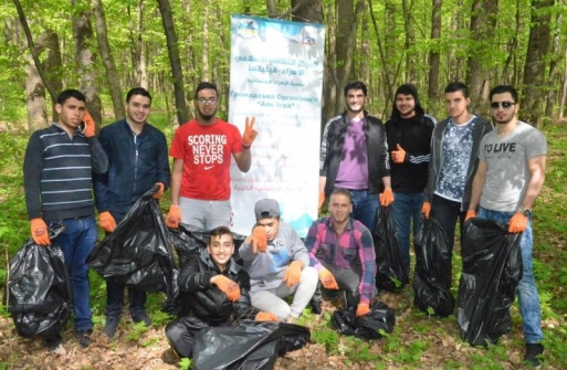 """Young Muslims joined the all-Ukrainian flashmob """"Let's Make Ukraine Clean!"""""""