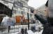Фотографії наслідків бомбардувань сирійських міст під Посольством РФ у Києві