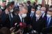 ©️АА: Президент Турции Реджеп Тайип Эрдоган - подход к прессе 24.07.2020г. после первой пятничной молитвы в Айя-Софии и посещении гробницы султана Мехмета II Завоевателя в Стамбуле