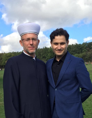 "Facebook: October 14, 2020, Mufti of the DUMU ""Umma"" Sheikh Said Ismagilov with the famous film director and actor Akhmet Seitablaev"