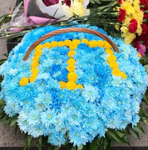 ©️Рефат Чубаров/фейсбук: Покладання квітів до пам'ятника Амет-Ханові Султану, 25 жовтня 2020 року, м. Київ