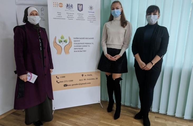 Ліга мусульманок України передала продукти для потерпілих від насильства
