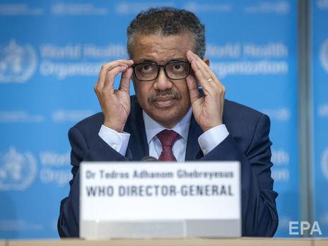 Генеральный директор Всемирной организации здравоохранения д-р Тедрос Адханом Гейбрейесус
