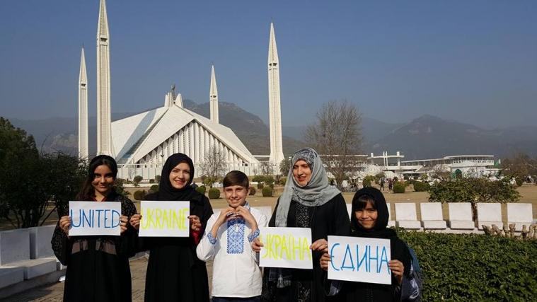 Українці Пакистану беруть участь у флешмобі «Україна — єдина!»