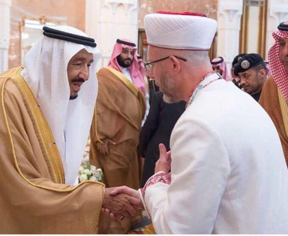 Муфтій Саід Ісмагілов від імені мусульман України особисто висловив найкращі побажання Королеві Салманові