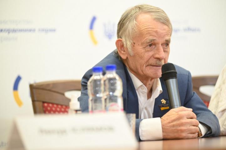 ©️МЗС: 05.10.2020, Мустафа Джемілєв — учасник онлайн-брифінгу в МЗС України