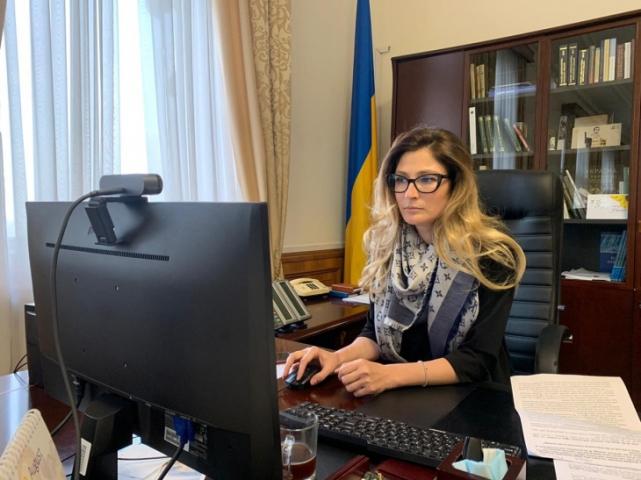 ©️МЗС: 12.10.2020р. Еміне Джапарова виступила на «кримській» панелі в рамках міжнародної онлайн-конференції «Форум-2000»