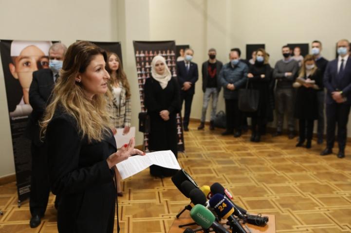 ©️ Укрінформ: 09.03.2021 р., МЗС України, відкриття виставки «Вірність собі — не злочин!»