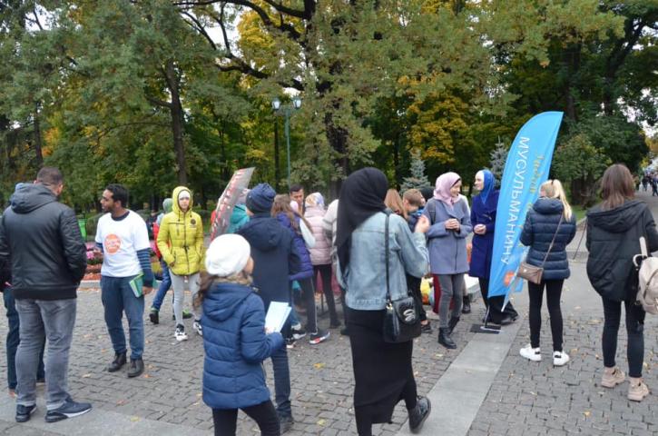 ©Милість для людства/фейсбук: Акція «Запитай у мусульманина» у Харкові 06.10.2019