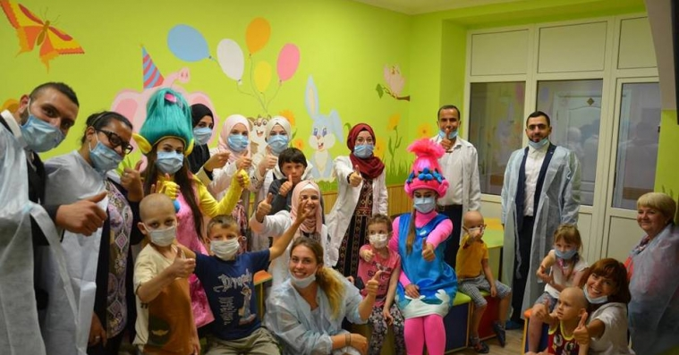 Sharing Festive Mood With Vinnytsia's Little Oncology Patients