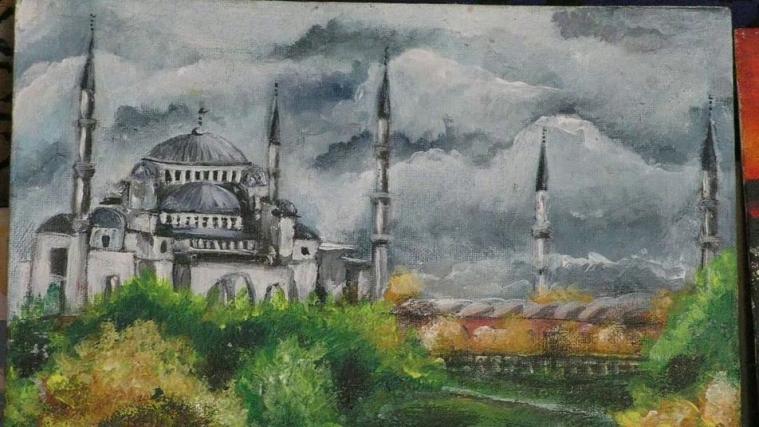 Мусульманки с Херсонщины рисуют Крым, куда мечтают вернуться