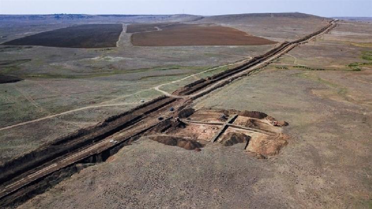 Во временно оккупированном Крыму при строительстве водовода обнаружили поселение времен Золотой Орды
