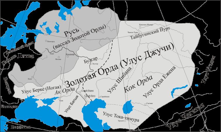 Карта Золотої Орди