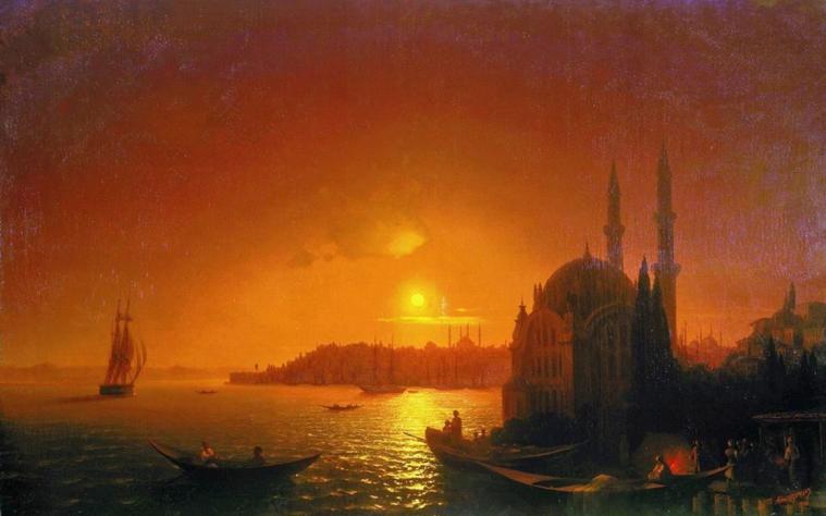 Константинополь в 1846 році. Худ.Айвазовскій