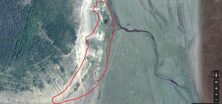 Руїни стародавньої Акмечеті на Google maps