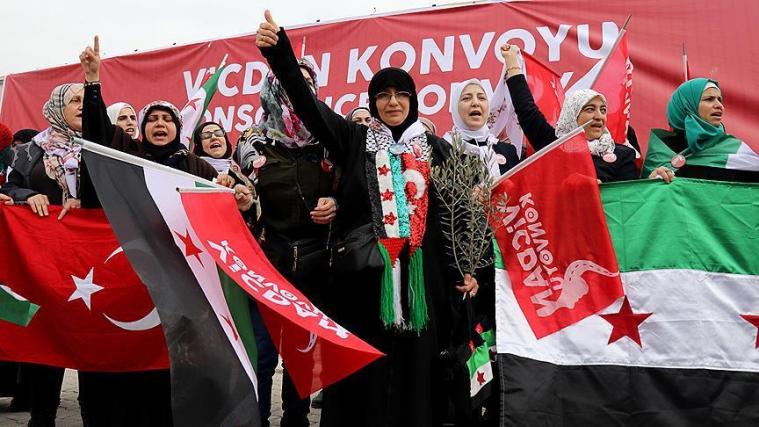 Жінки 55 країн прибули «конвоєм» до сирійського кордону