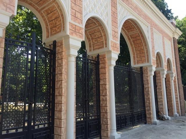 Moorish style gates