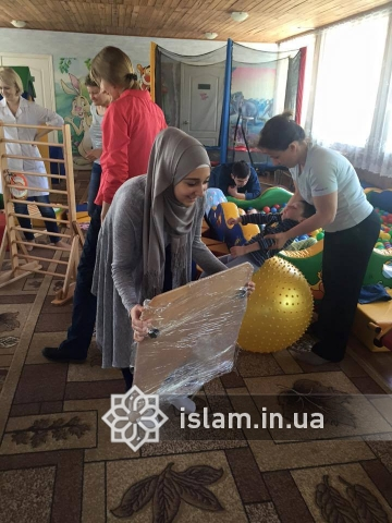 "The Muslim women of ""Maryam"" set themselves the task to help three orphans, who suffer from a cerebral spastic infantile paralysis, to get back on their feet"