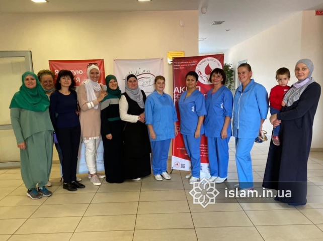 "23.4L of Blood Donated at Kyiv Islamic Cultural Centre During a WO ""Maryam"" Benefit"