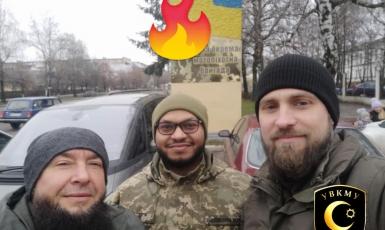 ©️УВКМУ: Імами-капелани відвідали солдата-мусульманина на місці його служби