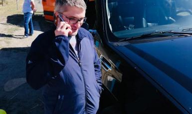 ©️Emine Dzheppar/Twitter: 21.09.2020, Наріман Мемедемінов під час розмови з Еміне Джепаровою
