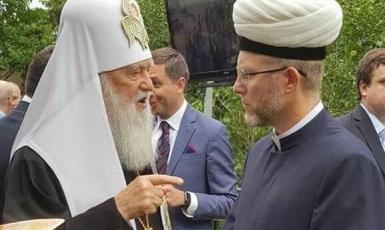 Духовний лідер українських мусульман привітав Патріарха Філарета з ювілеєм