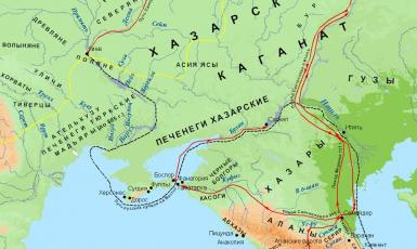 Про маршрут походу Мухаммада бін Марвана проти Хозарського каганату