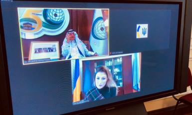 ©МЗС: 02.11.2020, Еміне Джапарова і генеральний секретар Організації ісламського співробітництва Юсеф Аль-Отаймін у режимі онлайн-конференції обговорили перспективи набуття Україною статусу спостерігача в ОІС