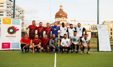 Muslims and Catholics played a friendly football match In Lviv