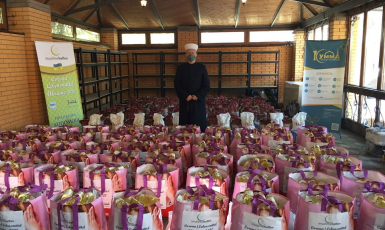 ©️Саід Ісмагілов/фейсбук: 22.04.20. ДУМУ «Умма» напередодні Рамадану забезпечило продуктами харчування нужденних