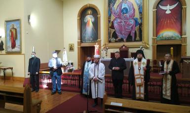 В Запорожье провели межконфессиональную молитву за преодоление эпидемии