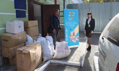 Мусульмани зібрали допомогу для понад 150 іноземців у Волинському пункті тимчасового перебування