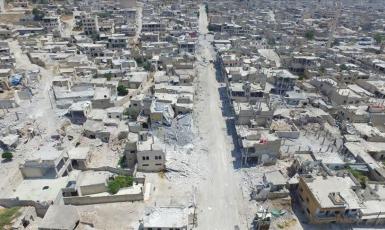©Агентство Анадолу: Хан-Шейхун. От города с населением в сто тысяч остались сплошные руины.