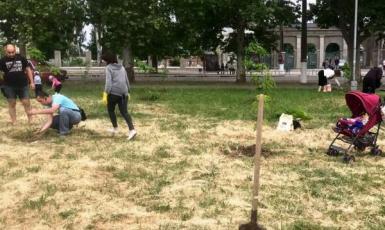 У Херсоні кримські татари влаштували хашар — впорядкували сквер пам'яті