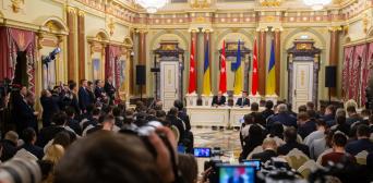 ©️пресс-служба Президента Украины: 03.02.2020, общение со СМИ по итогам 8-го заседания Стратегического совета высокого уровня между Украиной и Турцией