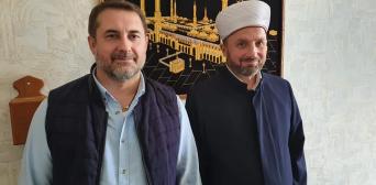 Нас объединяют благие намерения и дела. 24.05.2020, глава Луганской ОГА Сергей Гайдай и имам северодонецкой мечети Темур Беридзе