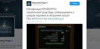 Індонезія та Україна співпрацюватимуть в оборонній сфері — Угоду ратифіковано Верховною Радою