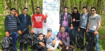 "Young Muslims joined the all-Ukrainian flashmob ""Let's Make Ukraine Clean!"""