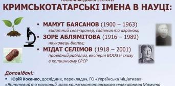 В Києві нагадають про кримськотатарські імена в науці