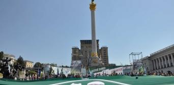 Найбільший прапор Ічкерії розгорнули на Майдані