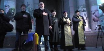 На Майдане Незалежности почтили память погибших дончан и луганчан-защитников Украины