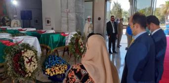 МЗС: 04.07.2020 р., Алжир. Палац культури «Муфді Закарія», офіційна церемонія прощання з прахом 24 алжирських героїв, учасників визвольної війни проти колоніалізму.