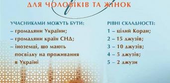 В українській столиці мусульмани змагатимуться за звання хафіза