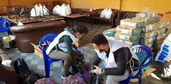 Кампанія «Єдине тіло» триває: у столичному ІКЦ уже вкотре роздавали продукти родинам малозабезпечених мусульман