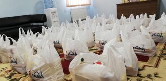 ©️ جمعية الصداقة — اوكرانيا /фейсбук: 23.04.20. Мусульмани м. Суми під час чергової акції в рамках кампанії «Єдине тіло» роздали 100 продуктови