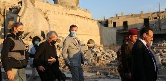 ©иракский офис ЮНЕСКО/Twitter: 20.11.2020, спецпредставители ООН и губернатор Ниневии посетили культовые сооружения Мосула, которые будут восстановлены в рамках инициативы ЮНЕСКО